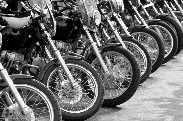 image of motorcycles in a row