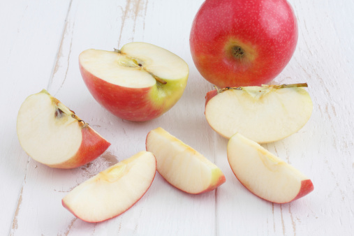 image of cut up apple