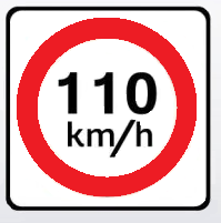 mexican speed limit sign