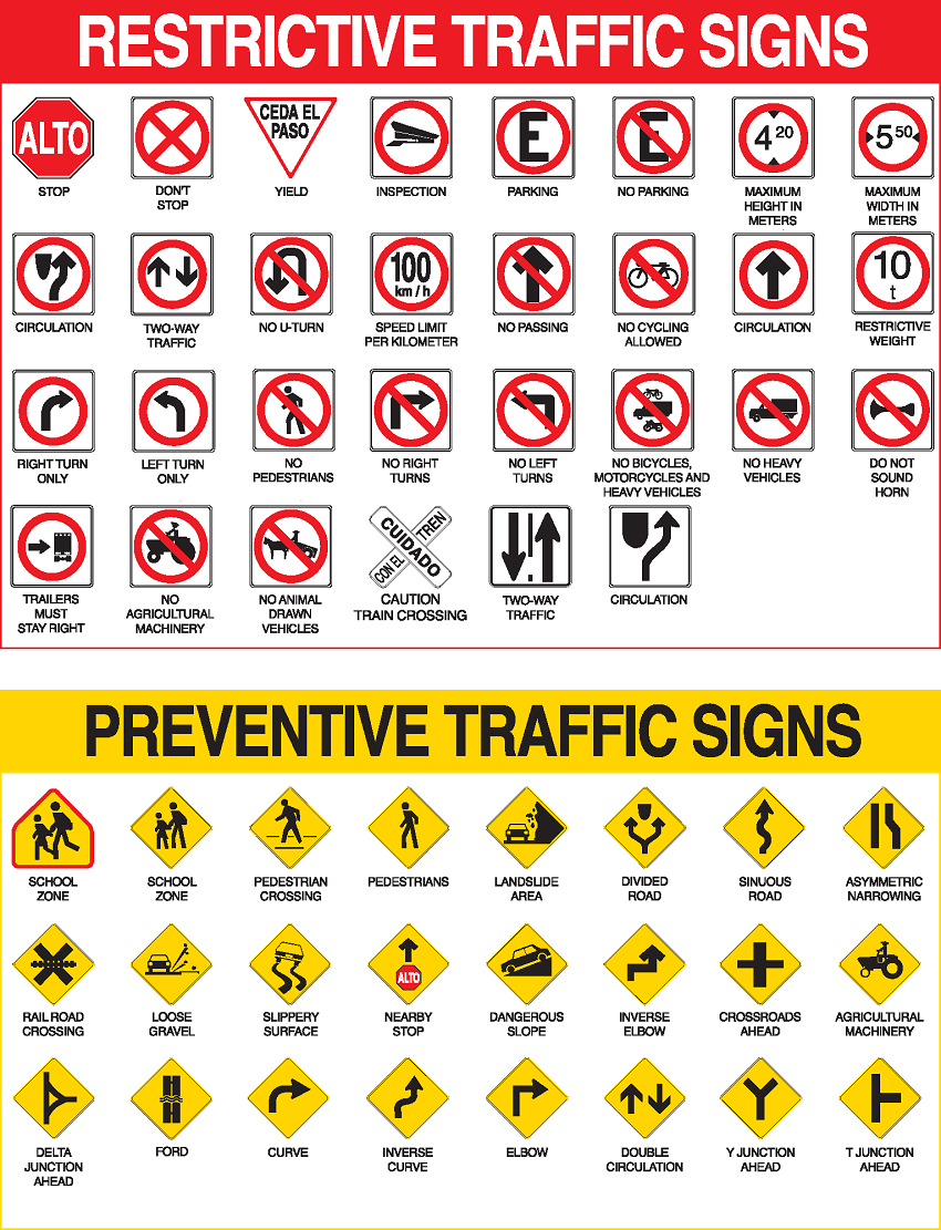 Mexico Road Signs